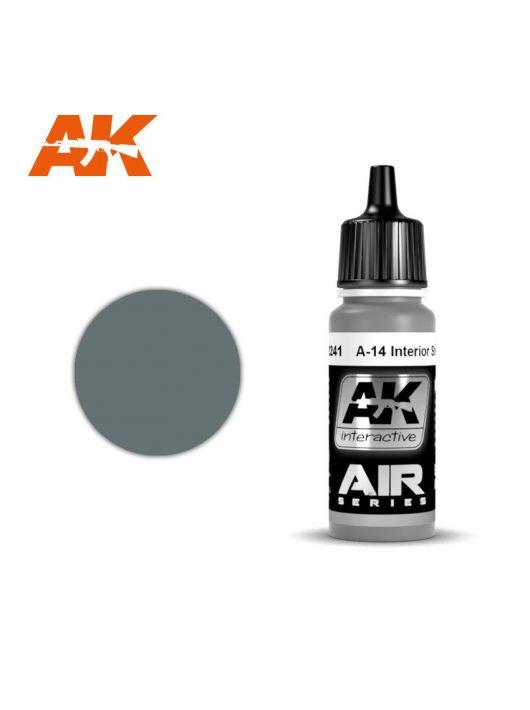 AK Interactive - A-14 Nterior Steel Grey