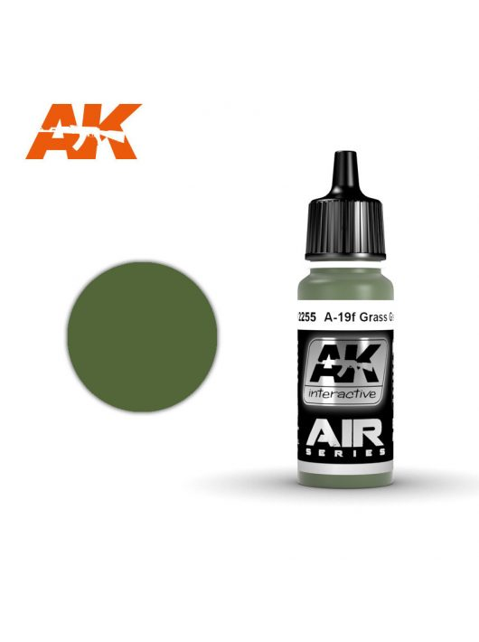 AK Interactive - A-19F Grass Green 17 ml
