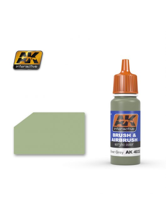 AK Interactive - Bsc. Nº28 Silver Grey 17 ml