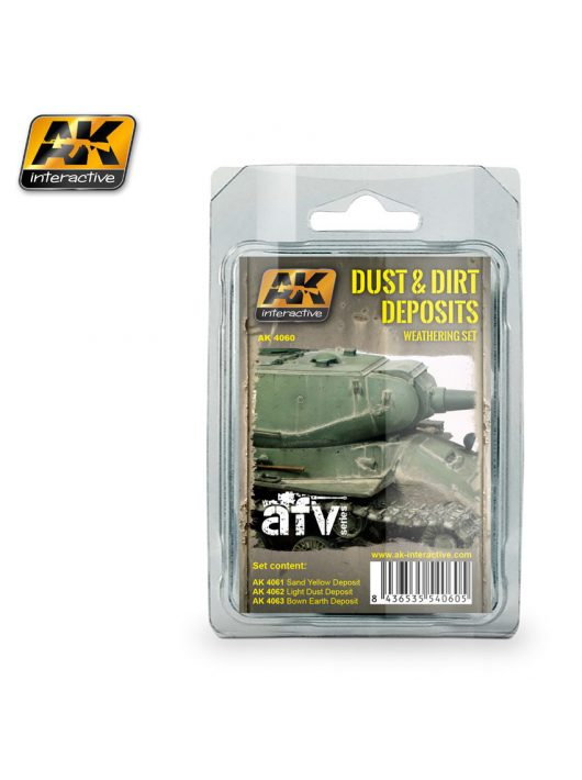 AK Interactive - Dust And Dirt Deposits Weathering Set