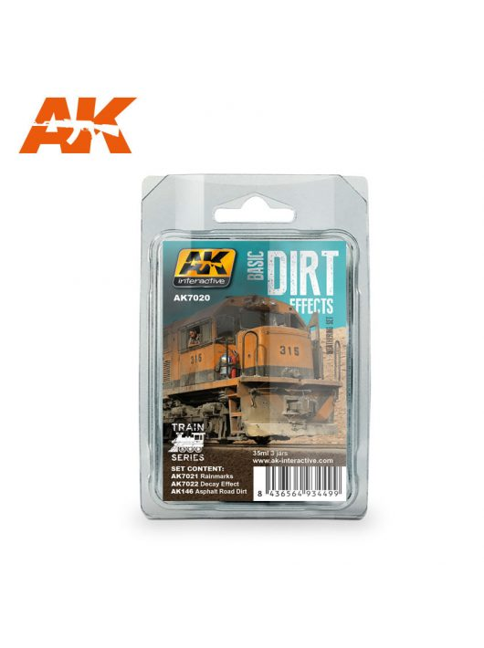 AK Interactive - Basic Dirt Effects Weathering Set Train Series