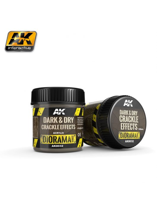AK Interactive - Dark & Dry Crackle Effects - 100Ml (Acrylic)