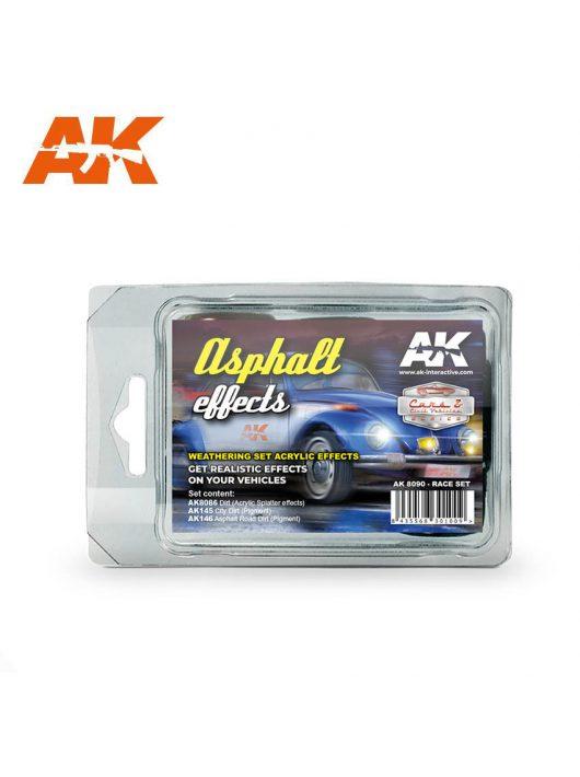 AK Interactive - Asphalt Effects Race Set