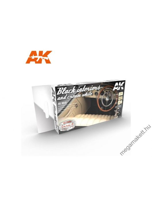 AK Interactive - Black Interiors And Cream White