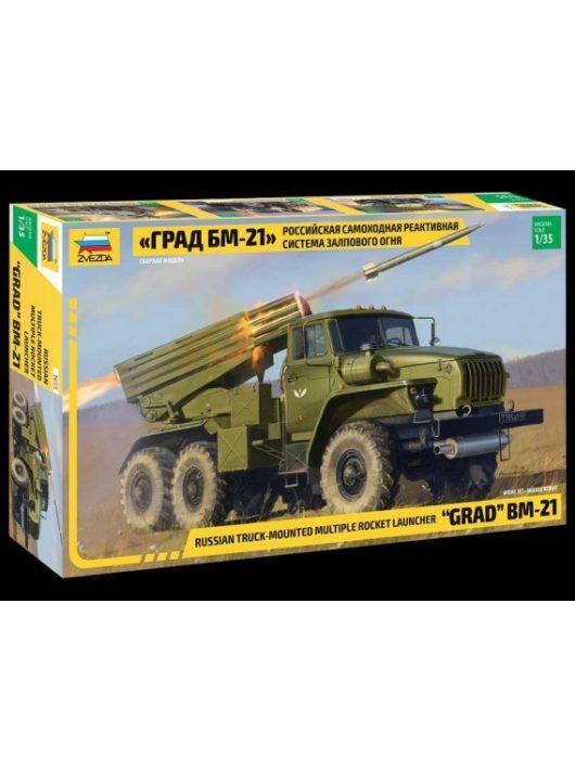 "1/35 Multiple Rocket Launcher BM-21 ""Grad"" Zvezda - No. 3655"